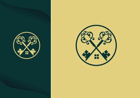 House Key Vector Logo Template