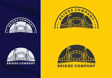 abstract bridge logo design template emblem symbol