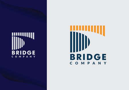 abstract bridge logo design template