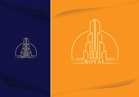 skyscraper city building line art design vector graphic