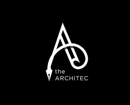 architect agency vector logo design. Letter A icon symbol sign Ilustração