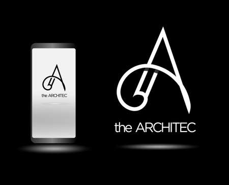 architecture agency vector logo design. Letter A icon symbol sign