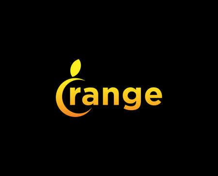 Logotype Orange Letter O shape of orange. for any company like business relate to food. fruit. store. market. technology. business and other