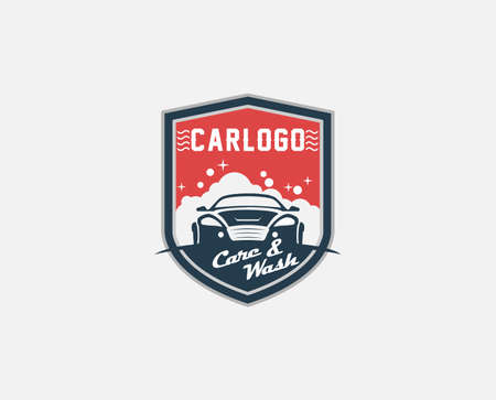 Set of cars and garage logo design . Auto care logo design concept illustration