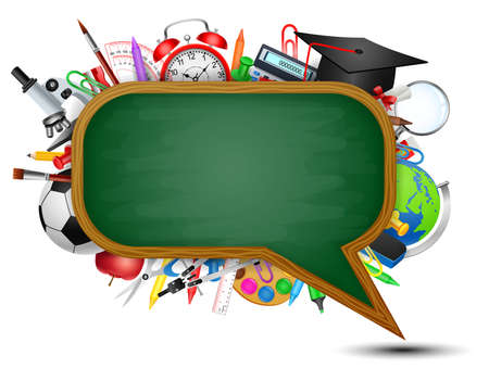 science class: Back to school message balloon design, vector illustration.