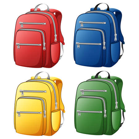 rucksack: Back to school with colorful bag.