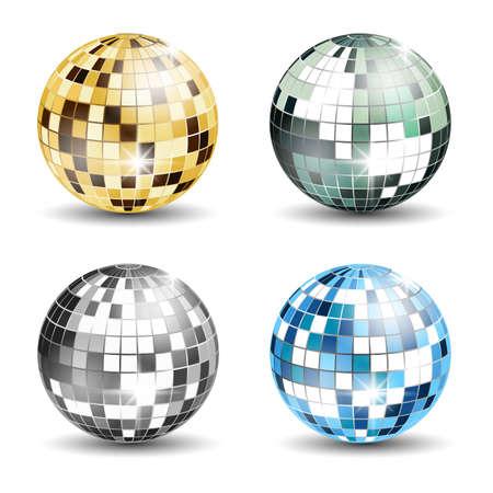Set of 4 disco balls Standard-Bild - 114008191