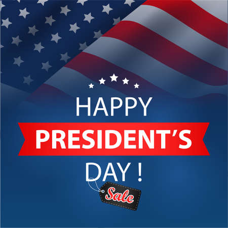 Presidents Day Sale Background. vector illustration