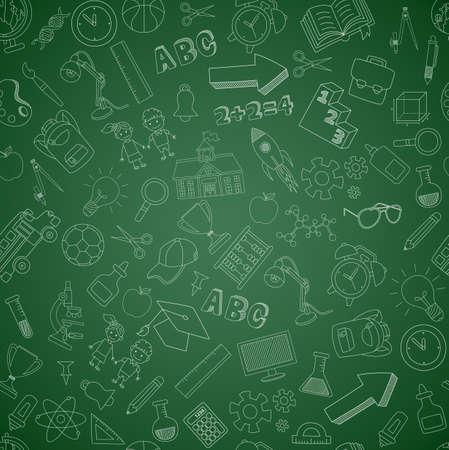 Back to school seamless pattern. Vector illustration