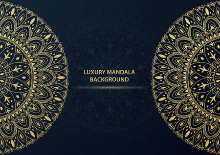 Luxury gold ornamental mandala background. Vector illustration