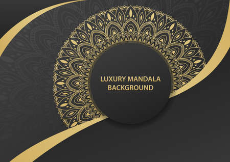 Luxury gold ornamental mandala background. Mandala with floral patterns. Vector illustration