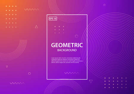 Geometric background. Trendy gradient shapes composition. Vector illustration
