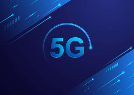 5G High speed technology concept. Vector illustration