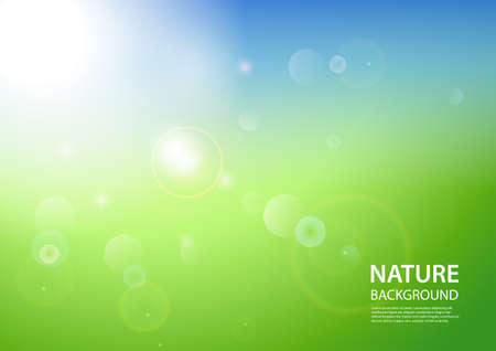 Abstract light nature background. Vector Illustration Ilustração