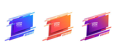 Set of modern abstract banner. Vector Illustration