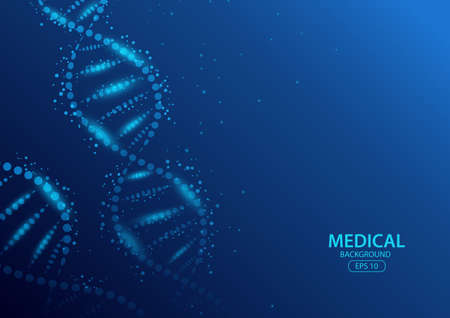 Abstract DNA digital background. Vector Illustration