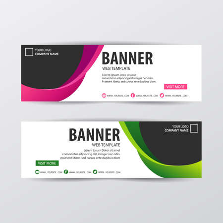 Abstract design banner concept. Vector illustration