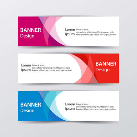 Abstract design banner web template concept. Vector illustration