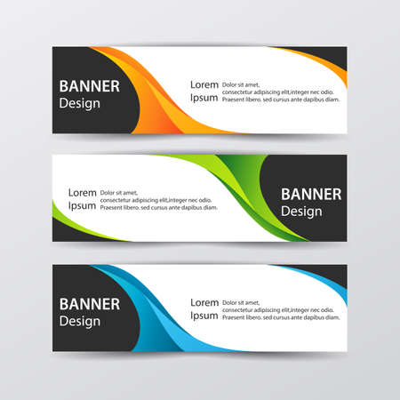 Abstract design banner web template. Vector illustration