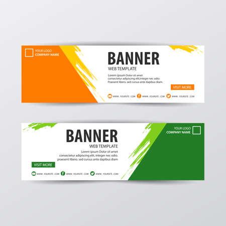 Abstract design banner web template. Vector illustration Vecteurs