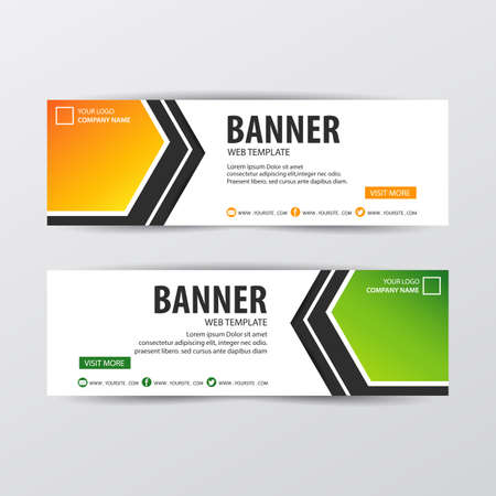 Abstract Web banner design background. Vector illustration