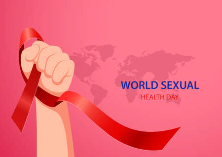 World sexual health day concept. Vector illustration Ilustração