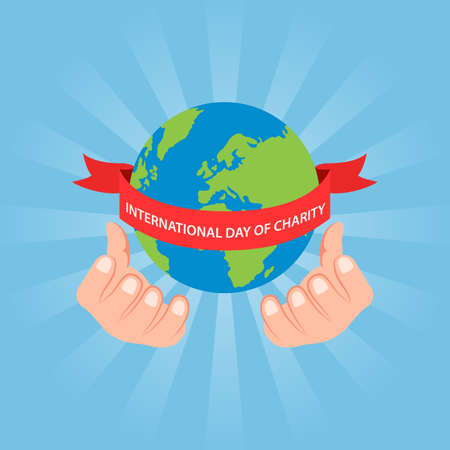 International day of charity. Vector illustration