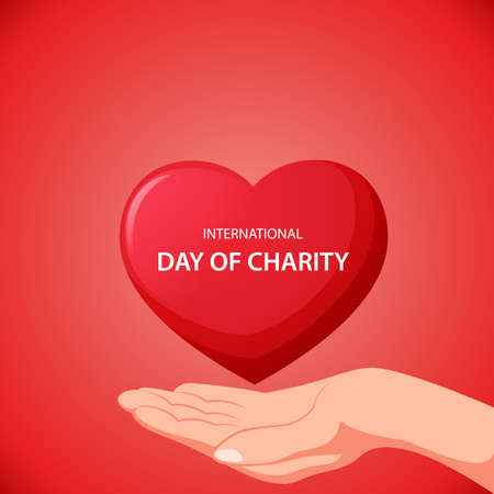 International day of charity concept. Vector illustration Ilustração