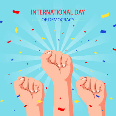 International day of democracy, poster. Vector illustration