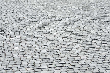 Stone road paved in Cluj-Napoca, Romania photo