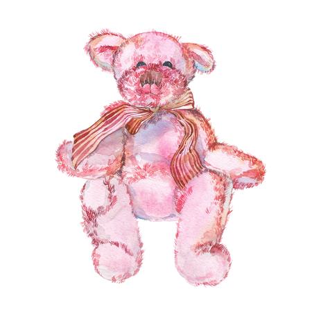 boyhood: Teddy Bear. Watercolor illustration