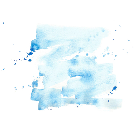 Watercolor background blue hand drawing