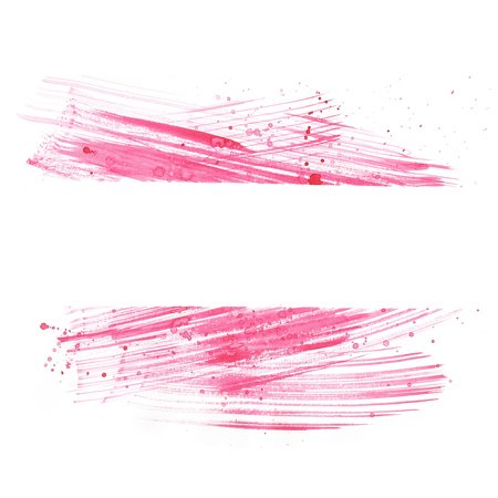 Watercolor background pink  hand drawing