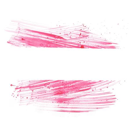 Aquarelle fond dessin à la main rose Banque d'images - 54992300