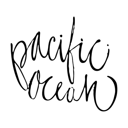 Surfing hand lettering design for posters, t-shirts, cards, invitations, stickers banners Illustration