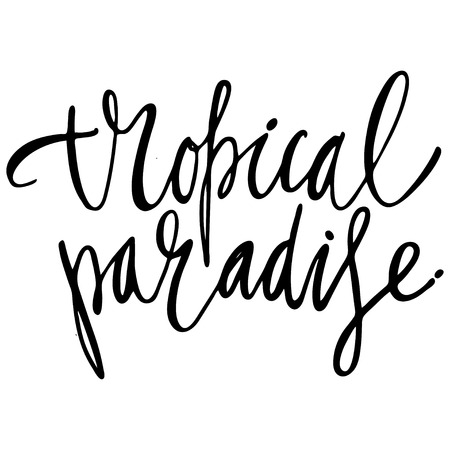 Paradise hand lettering design for posters, t-shirts, cards, invitations, stickers, banners Vector Illustration