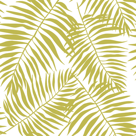 Tropical leaves. Beautiful seamless vector floral pattern background, exotic print. EPS 10