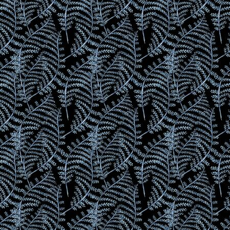 Seaweed sea life. Watercolor hand drawn painted illustration. Seamless pattern Stock Illustration - 84290296