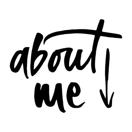 私についての手描きの言葉  イラスト・ベクター素材