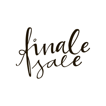 Finale Sale phrase. Vector ad illustration. Handdrawn lettering. Design element for sale banners, posters, cards.
