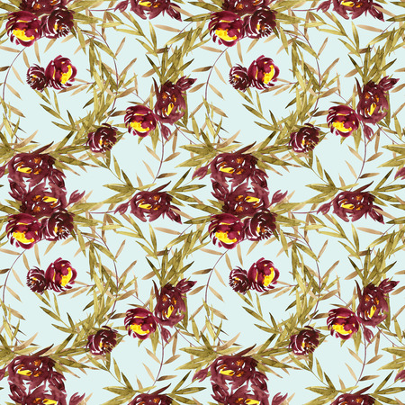 Retro seamless pattern with flowers. Mothers Day, wedding, birthday,Valentines Day.
