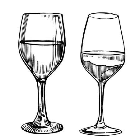 Wine glasses icon.