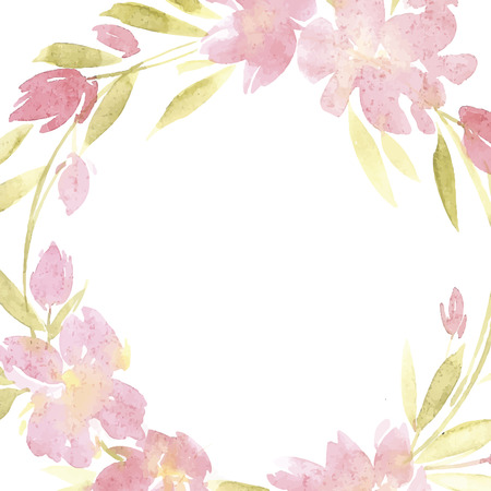 Flowers watercolor vector illustration. Mother s Day, wedding, birthday, Easter, Valentine s Day.