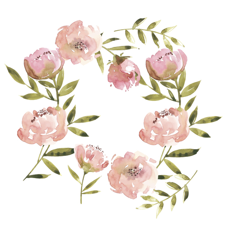 Flowers watercolor vector illustration. Mother s Day, wedding, birthday, Easter, Valentine s Day