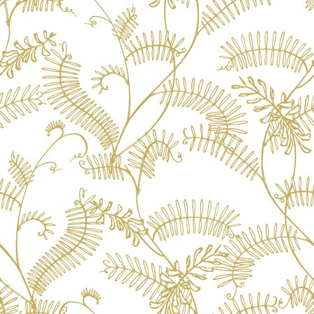 Branch of wild plant Vicia cracca. Tufted Vetch or Vicia cracca, vintage engraved illustration. Botanical illustration. Good for cosmetics, medicine, treating, aromatherapy, nursing, package design, field bouquet. Seamless pattern