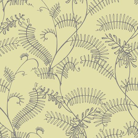 Branch of wild plant Vicia cracca. Tufted Vetch or Vicia cracca, vintage engraved illustration. Botanical illustration. Good for cosmetics, medicine, treating, aromatherapy, nursing, package design, field bouquet. Seamless pattern.