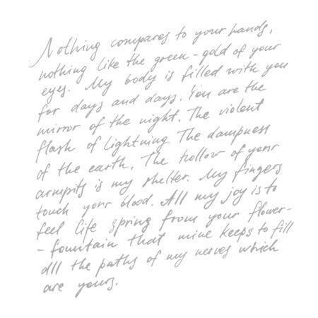 Handgeschriebene abstrakte Texttapete. Nachahmung einer abstrakten Vintage-Beschriftung. Buchstaben in Inschriften, Ornamenten, Hintergrund.