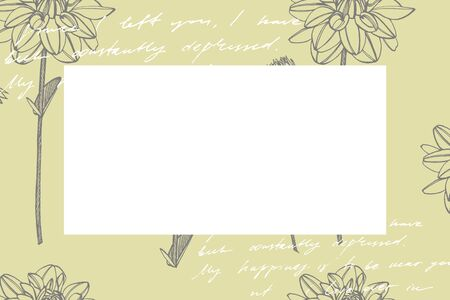 Hand-drawn ink dahlias. Floral elements. Graphic flowers illustrations. Botanical plant illustration. Vintage medicinal herbs sketch set of ink hand drawn medical herbs and plants sketch.