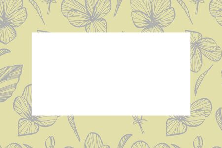 Hand drawn flowers and plants teamplate horizontal cards. Handwritten abstract text wallpaper. Imitation of a abstract vintage lettering. Botany, vintage flowers