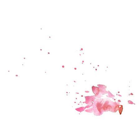 Beautiful watercolor ink drops on white paper, splatter spreading on clear background. Perfect for motion graphics, digital composition Stock Photo - 133058314